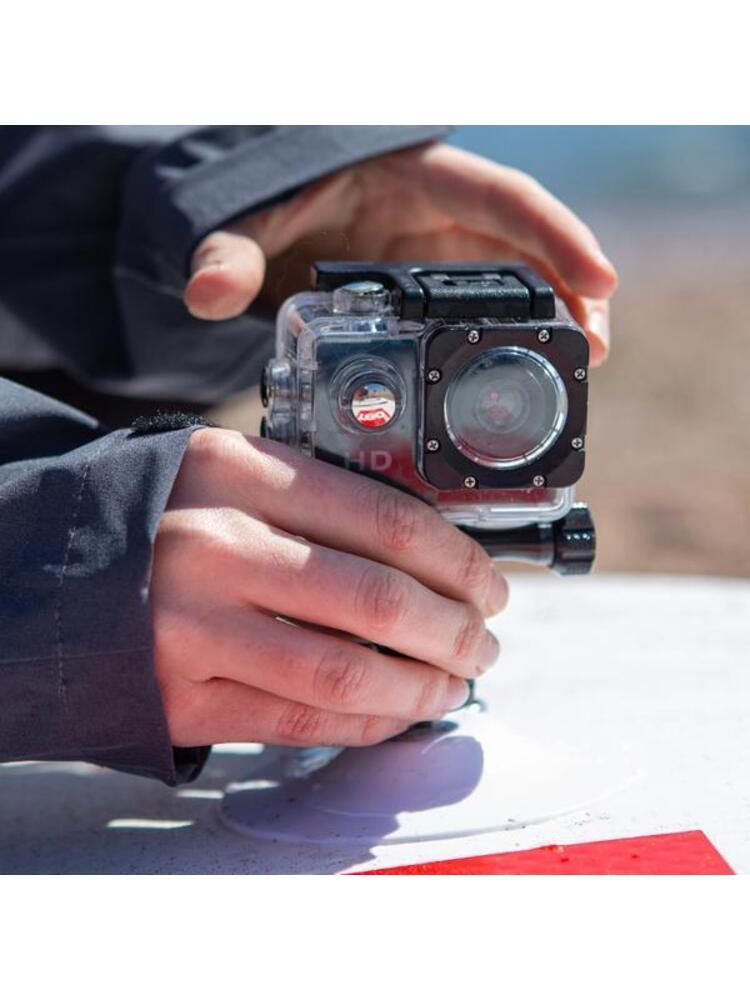 Veiksmo kameros tvirtinimo laikiklis