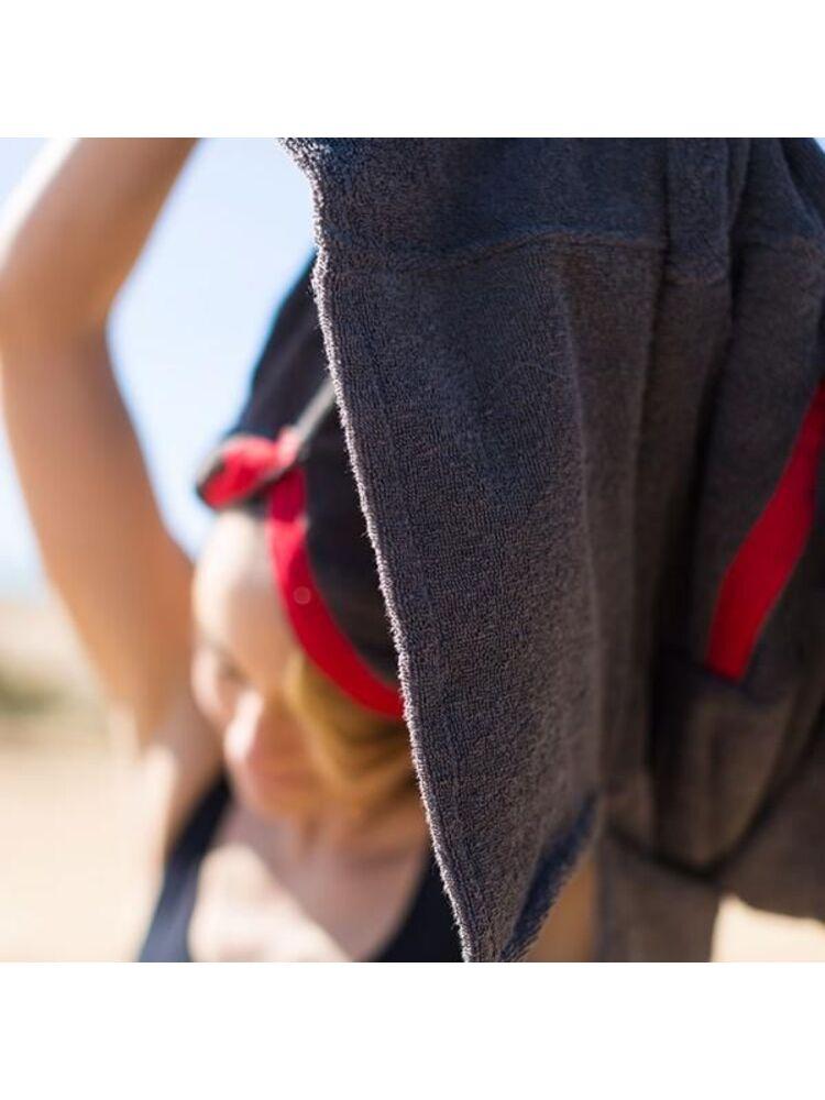 RED Original moteriškas pončas - rankšluostis (pilkas)
